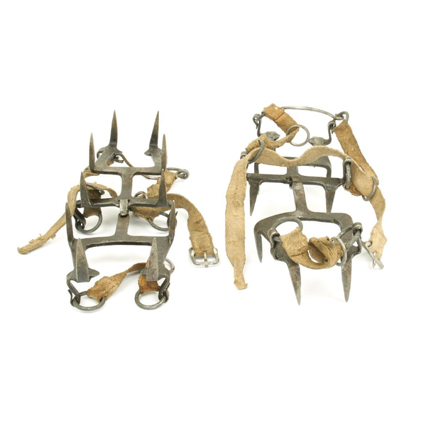"Original German WWII Mountain Troops Gebirgsj""ger Crampons"